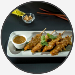 3 chicken satay